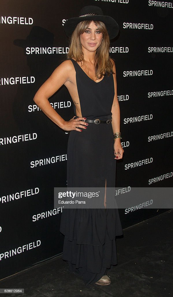 Elena Tablada attends the Springfield fashion film presentation photocall at Fortuny palace on May 05, 2016 in Madrid, Spain.