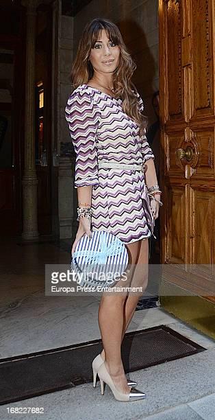 Elena Tablada atttends the babyshower party of Silvia Casas on April 18 2013 in Madrid Spain