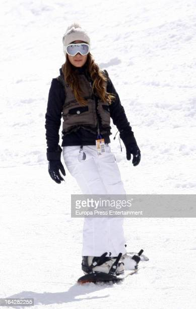 Elena Tablada is seen on March 3 2013 in Baqueira Beret Spain