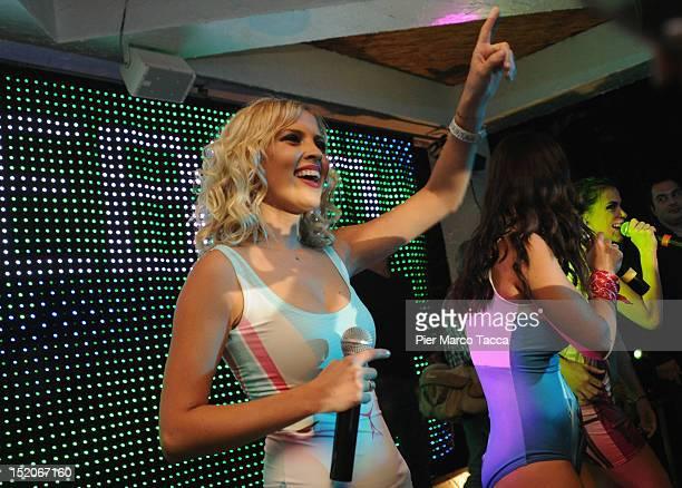 Elena TemnikovaMarina Lizorkina and Olya Serebkina Russia's group Serebro perform at Le Rotonde on September 15 2012 in Garlasco Italy