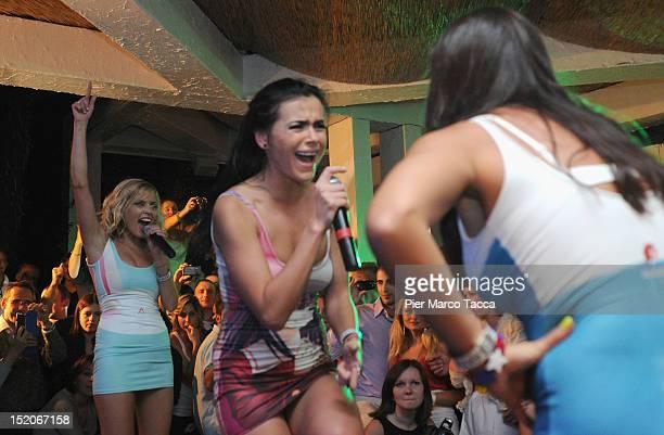 Elena TemnikovaOlya Serebkina and Marina Lizorkina Russia's group Serebro perform at Le Rotonde on September 15 2012 in Garlasco Italy