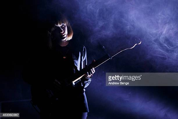 Elena Tonra of Daughter performs on stage at Beacons Festival at Funkirk Estate on August 8 2014 in Skipton United Kingdom