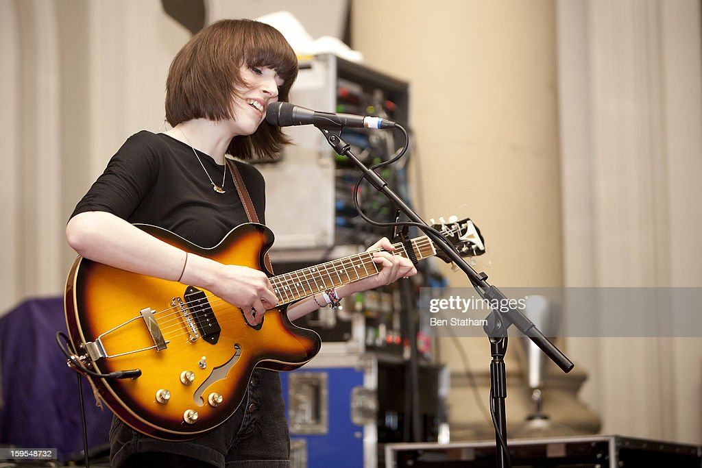 Elena Tonra of Daughter performs on stage in concert at Holy Trinity Church on January 15, 2013 in Leeds, England.