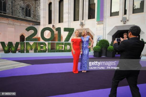 Elena Vesnina and Ekaterina Makarova arriving at the Wimbledon Champions Dinner 2017 at the Guildhall London