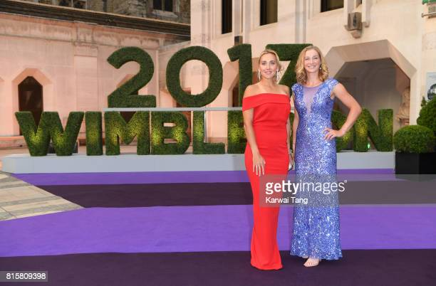 Elena Vesnina and Ekaterina Makarova attend the Wimbledon Winners Dinner at The Guildhall on July 16 2017 in London England