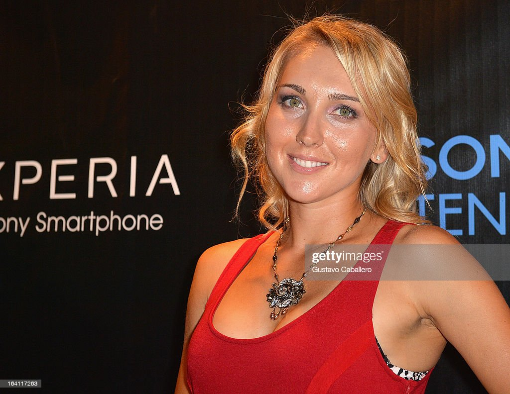<a gi-track='captionPersonalityLinkClicked' href=/galleries/search?phrase=Elena+Vesnina&family=editorial&specificpeople=552598 ng-click='$event.stopPropagation()'>Elena Vesnina</a> arrives at Sony Open Player Party 2013 at JW Marriott Marquis on March 19, 2013 in Miami, Florida.