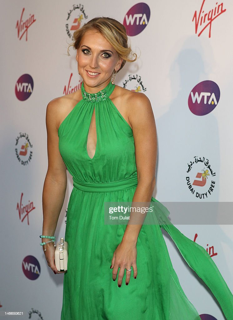Elena Vesnina arrives at the WTA Tour Pre-Wimbledon Party at The Roof Gardens, Kensington on June 21, 2012 in London, England.