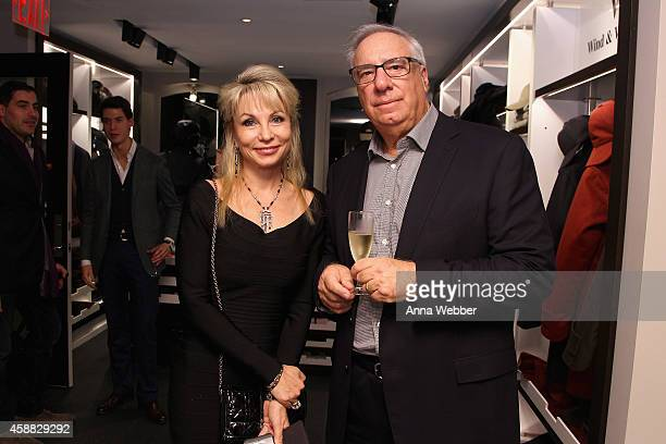 Elena Volgin and Aaron Malinsky attend DuJour magazine's premier opening event Tincati Milano Concept Store on November 11 2014 in New York City