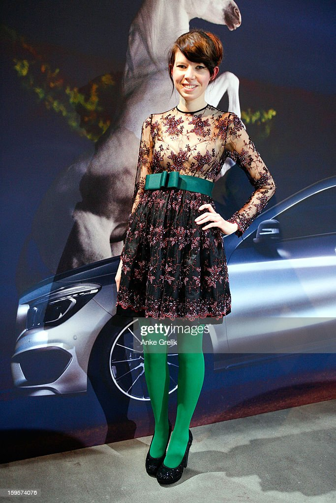 Elena wearing Goldknopf Couture attends Mercedes-Benz Fashion Week Autumn/Winter 2013/14 on January 16, 2013 in Berlin, Germany.