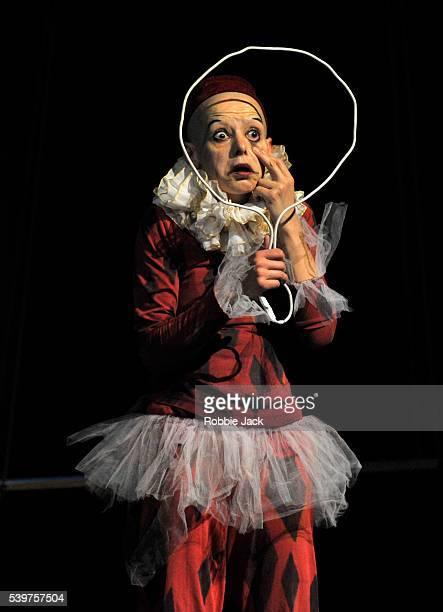 Elena Yarovaya as Monkey in Derevo's production 'Harlekin' at the Pleasance as part of the Edinburgh Festival Fringe