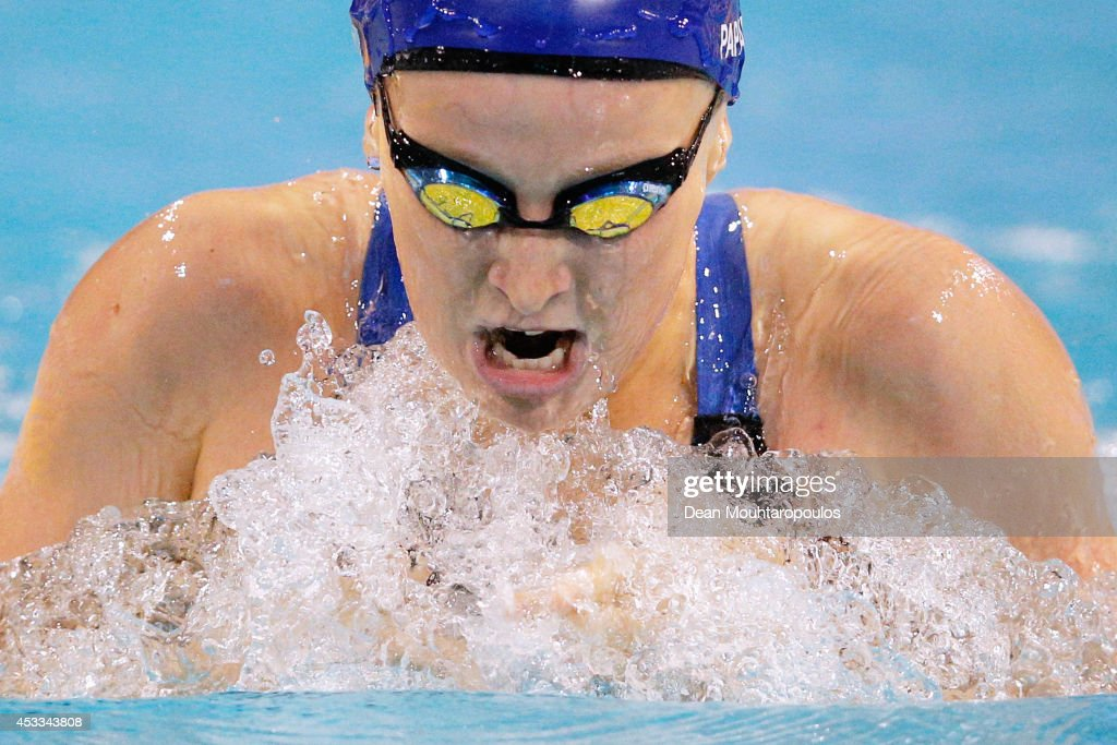 Eleni Papadopoulos of Great Britain competes in the Women's 200m Individual Medley SM10 Final during day five of the IPC Swimming European Championships held at the Pieter van den Hoogenband Swimming Stadium on August 8, 2014 in Eindhoven, Netherlands.