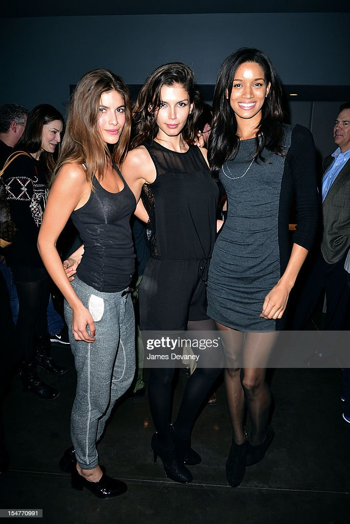 Eleni Tsavousis, Alejandra Cata, and Tarah Rodgers attend MSG Network's 'Knicks Season Roundtable' at Clyde Frazier's Wine and Dine on October 25, 2012 in New York City.