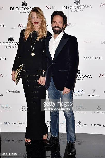 Elenoire Casalegno and Sebastiano Lombardi attend Alessandro Martorana's birthday party on January 29 2015 in Milan Italy