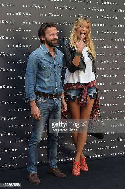 Elenoire Casalegno and Sebastiano Lombardi attend on the John Richmond show during the Milan Fashion Week Womenswear Spring/Summer 2015 on September...