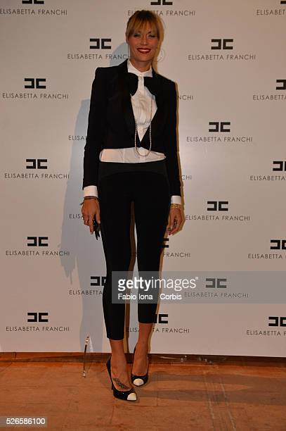 Elenoire Casalegno arrives at the Elisabetta Franchi show as a part of Milan Fashion Week Womenswear Spring/Summer 2014 at on September 19 2013 in...