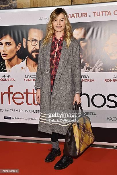 Elenoire Casalegno attends 'Perfetti Sconosciuti' Premiere held at Odeon Cinema on February 8 2016 in Milan Italy