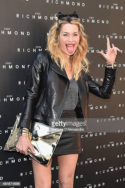 Elenoire Casalegno attends the John Richmond show during the Milan Fashion Week Autumn/Winter 2015 on March 1 2015 in Milan Italy