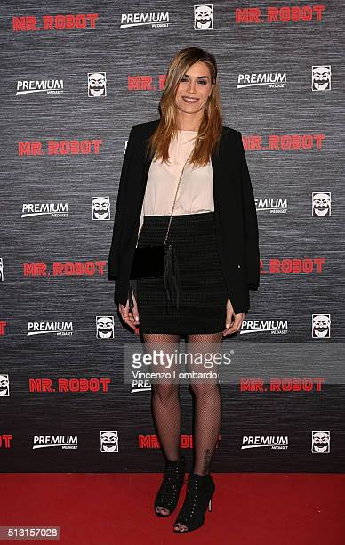 Elenoire Casalegno attends the 'Mr Robot' Tv Show Photocall on February 29 2016 in Milan Italy