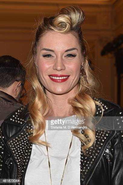 Elenoire Casalegno attends the Stella Jean show during the Milan Menswear Fashion Week Fall Winter 2015/2016 on January 20 2015 in Milan Italy