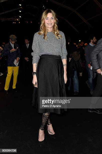 Elenoire Casalegno attends the Vivienne Westwood show during Milan Men's Fashion Week Fall/Winter 2016/17 on January 17 2016 in Milan Italy