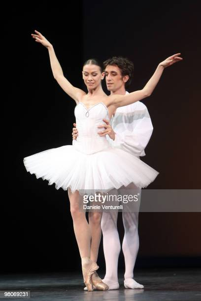 Eleonora Abbagnato and Benjamin Pech attend the Dance Gala 'Eleonora Abbagnato Et Ses Amis' at the Filarmonico theatre on February 7 2010 in Verona...