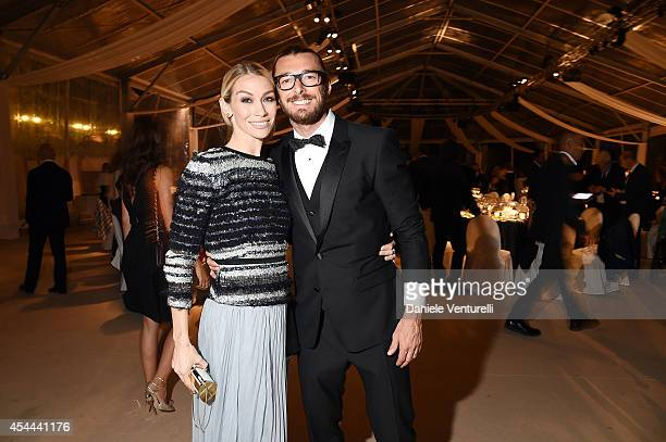 Eleonora Abbagnato and Federico Balzaretti attend Kineo Award Dinner during the 71st Venice Film Festival at Hotel Excelsior on August 31 2014 in...
