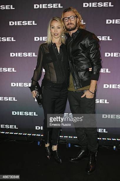 Eleonora Abbagnato and Federico Balzaretti attend the Diesel store opening at Piazza Di Spagna on October 2 2014 in Rome Italy