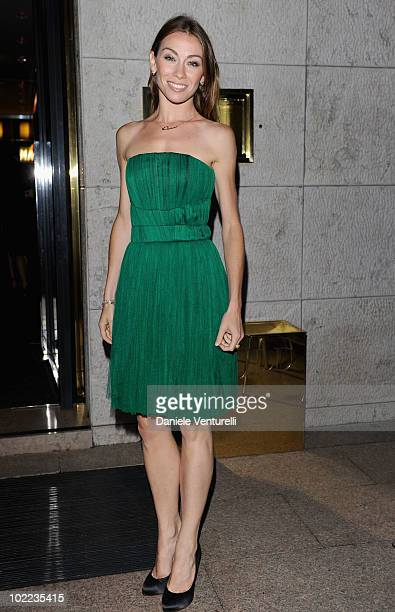 Eleonora Abbagnato arrive at the Dolce Gabbana '20 Years of Menswear' dinner on June 19 2010 in Milan Italy