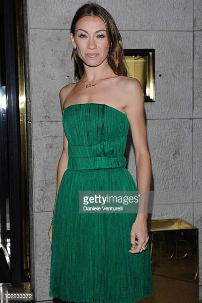 Eleonora Abbagnato arrives at the Dolce Gabbana '20 Years of Menswear' dinner on June 19 2010 in Milan Italy
