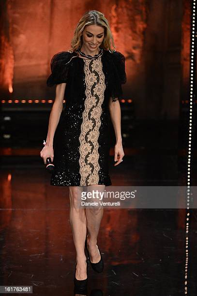 Eleonora Abbagnato attend the fourth night of the 63rd Sanremo Song Festival at the Ariston Theatre on February 15 2013 in Sanremo Italy