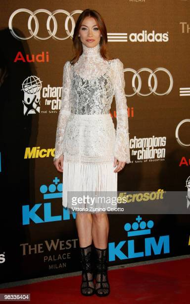 Eleonora Abbagnato attends ''Champions For Children'' First Annual Gala held at Castello Sforzesco on April 8 2010 in Milan Italy