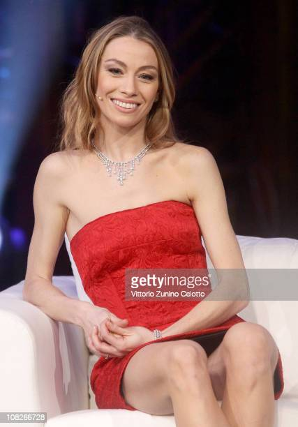 Eleonora Abbagnato attends 'Chiambretti Night' Italian TV Show held at Mediaset Studios on January 23 2011 in Milan Italy