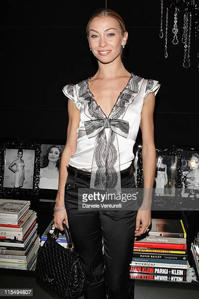 Eleonora Abbagnato attends the Dolce Gabbana show as part of Milan Womenswear Fashion Week Spring/Summer 2010 on September 27 2009 in Milan Italy