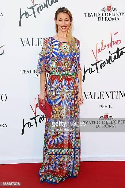 Eleonora Abbagnato attends the 'La Traviata' Premiere at Teatro Dell'Opera on May 22 2016 in Rome Italy