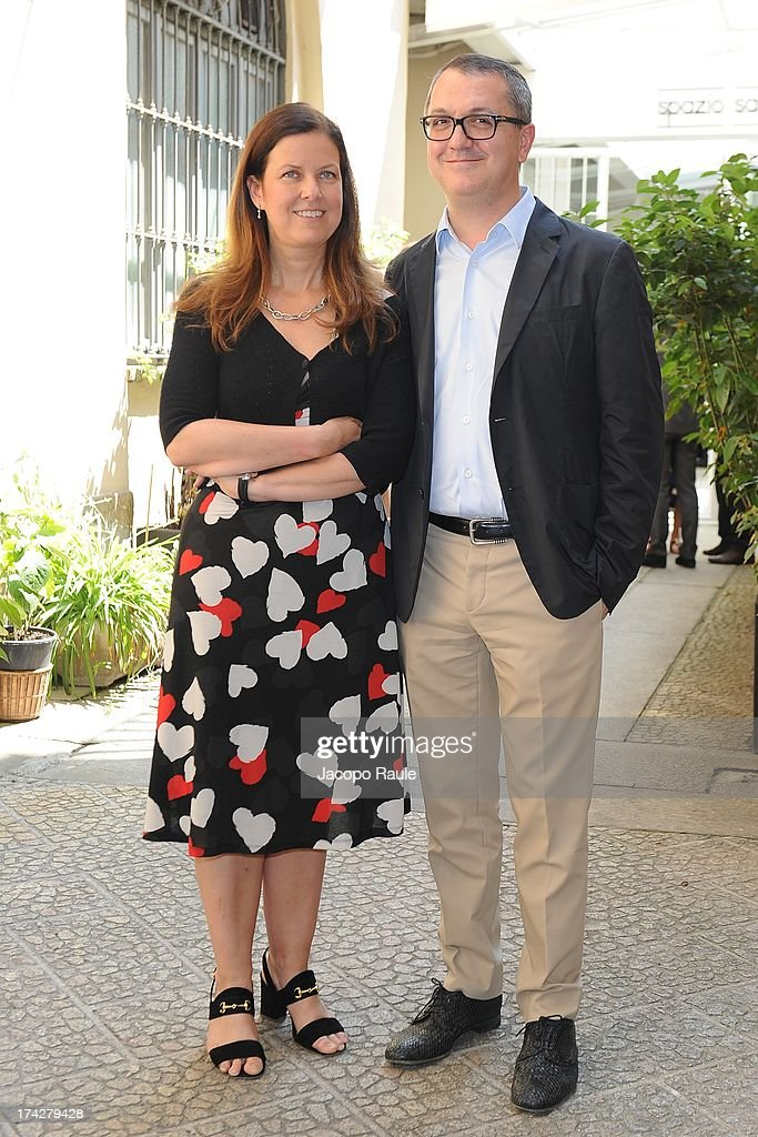 Eleonora Andreatta and Luca Dini attend 'Vent'Anni Prima' Press Conference on July 23, 2013 in Milan, Italy. Vanity Fair and Rai Fiction present today the first mag series.