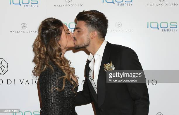Eleonora Brunacci and Mariano Di Vaio attend a party for Mariano Di Vaio's blog on February 22 2017 in Milan Italy