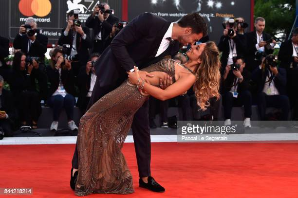 Eleonora Brunacci and Mariano Di Vaio walk the red carpet ahead of the 'Racer And The Jailbird ' screening during the 74th Venice Film Festival at...