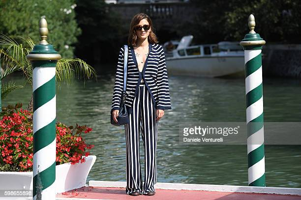 Eleonora Carisi arrives at Lido during the 73rd Venice Film Festival on September 2 2016 in Venice Italy