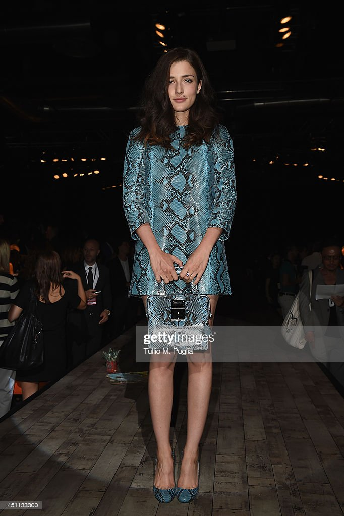 Eleonora Carisi attends DSquared2 show during Milan Menswear Fashion Week Spring Summer 2015 on June 24, 2014 in Milan, Italy.