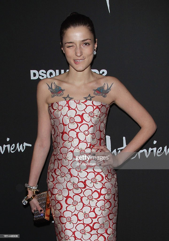 Eleonora Carisi attends the DSQUARED2 x Interview Party at Copacabana on February 10, 2013 in New York City.
