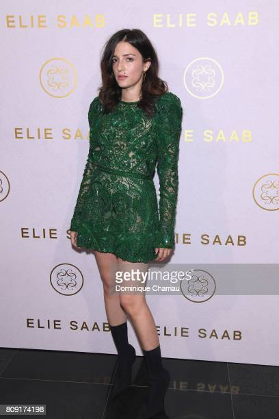 Eleonora Carisi attends the Elie Saab Haute Couture Fall/Winter 20172018 show as part of Paris Fashion Week on July 5 2017 in Paris France