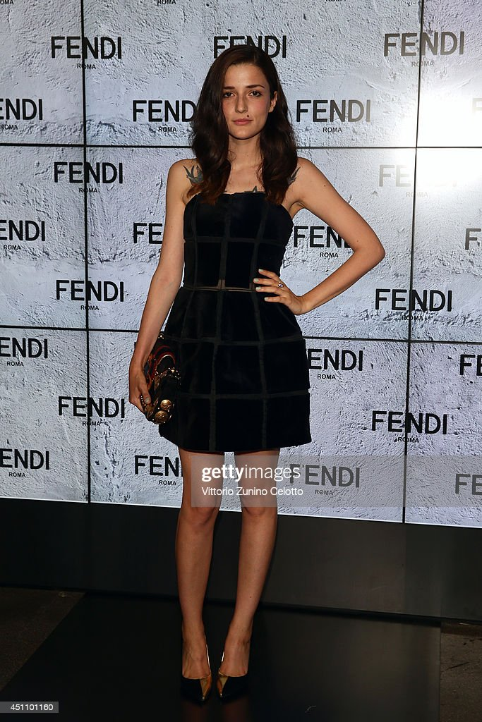 Eleonora Carisi attends the Fendi show during Milan Menswear Fashion Week Spring Summer 2015 on June 23, 2014 in Milan, Italy.
