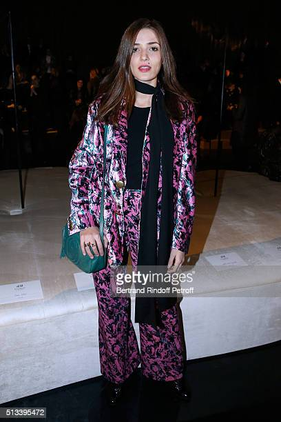 Eleonora Carisi attends the HM Studio show as part of the Paris Fashion Week Womenswear Fall/Winter 2016/2017 on March 2 2016 in Paris France