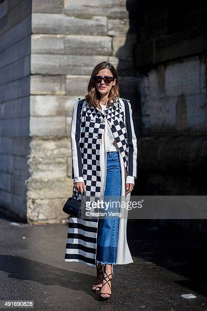 Eleonora Carisi before Valentino during the Paris Fashion Week Womenswear Spring/Summer 2016 on Oktober 6 2015 in Paris France