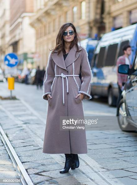 Eleonora Carisi during Milan Fashion Week Spring/Summer 16 on September 25 2015 in Milan Italy