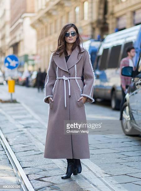 Eleonora Carisi during Milan Fashion Week Spring/Summer 16 on September 25 2015 in Milan Italy