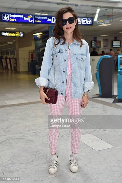 Eleonora Carisi is seen at Nice Airport during the 68th annual Cannes Film Festival on May 22 2015 in Cannes France