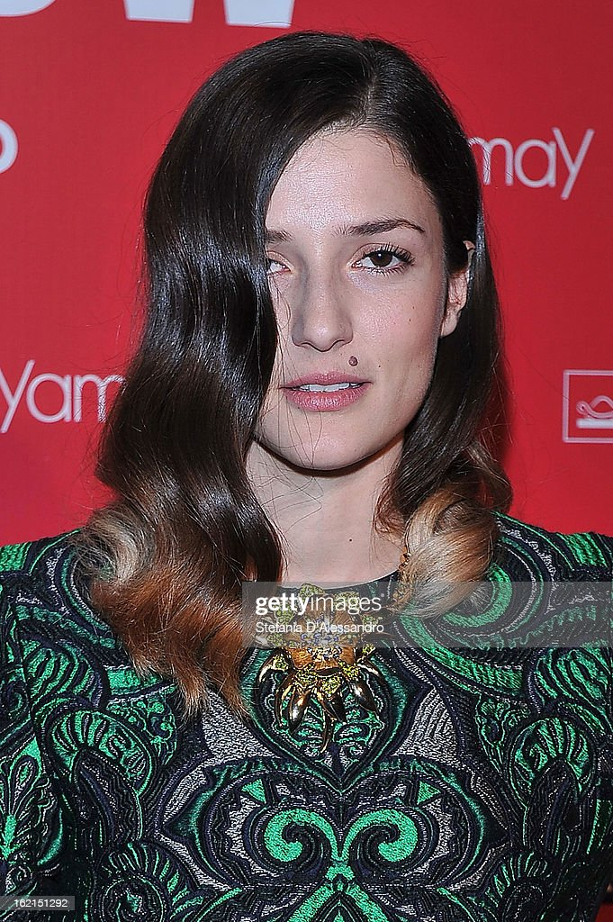 Eleonora Carrisi attends Yamamay Fashion Show cocktail party during Milan Fashion Week Fall/Winter 2013/14 at the Alcatraz on February 19, 2013 in Milan, Italy.