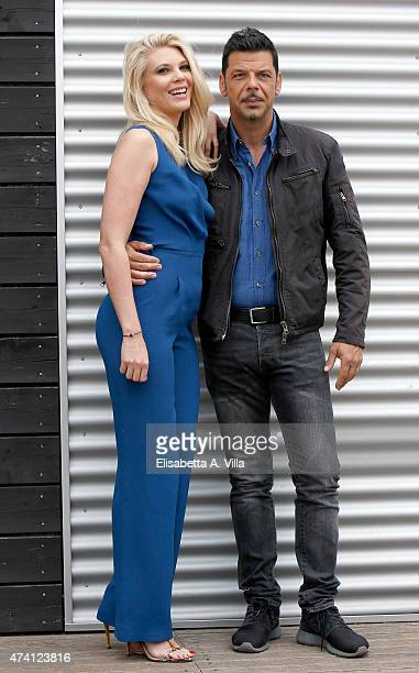 Eleonora Daniele and Salvo Sottile attend 'Estate In Diretta' Tv Show photocall at RAI on May 20 2015 in Rome Italy
