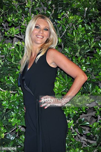 Eleonora Daniele at the Rai Show Schedule on July 5 2016 in Rome Italy